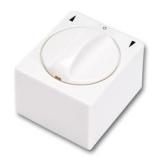 Knebelschalter-Taster Aufputz 1-polig weiß
