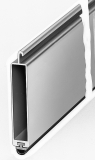 Hohlkammer Endleiste mit PVC-Endstab braun lackiert