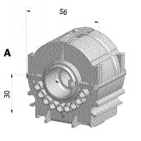 Wendelager Universal Vierkant 7mm