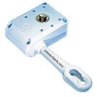 Schneckengetriebe 7:1 für Vierkant 13 mm Öse 120mm, weiß
