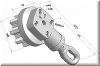 Kegelradgetriebe 5:1 für Nutrohr Ø 78mm Rechtseinbau, silbern