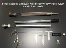 Umbauset Kittelberger-Welle auf SW40