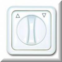 Knebelschalter / -taster  2-polig ultraweiss