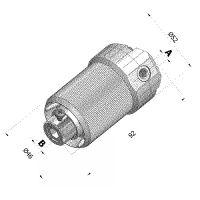 Kegelradantrieb 1,8:1 für Vierkant 7mm