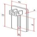 Motorplatte Neubau für 10mm Vierkant