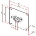 Motorplatte 100  für 10mm Vierkant lösbar