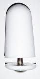 Anschlagstopper abgerundet 40mm lang weiß, braun oder grau